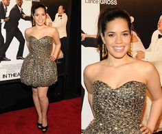 America Ferrera: Super-talented, with a great, realistic figure. I loved her on Ugly Betty! Hero!