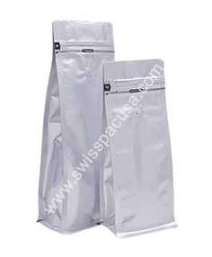 We manufacture our #12oz / 340g #MATTSILVER    #FLAT_BLOCKBOTTOMBAGS #WITHTEARZIPPER #WITHVALVE by utilizing various plastic films, so our pouches are highly durable in nature.