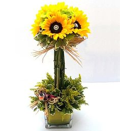 Dazzling Sunflower Topiary (1-800-Flowers | Sicola's Florist in Houston, TX)