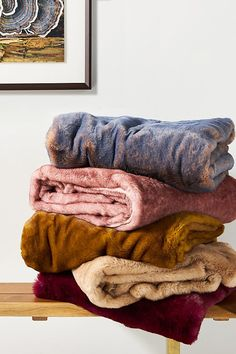 Aleksi Faux Fur Throw Blanket - Anthropologie - Treat yourself or a loved one to the luxurious feel of faux fur with this oh-so-soft throw blanket. Its short pile is dipped in a contrast color, lending it a sense visual depth and dimension. (This post contains affiliate links.) Anthropologie Christmas, Anthropologie Uk, Fur Pillow, Bed Throws, Throw Blankets, Comfy Blankets, Throw Pillows, Faux Fur Throw, Knitted Throws