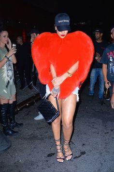 Rihanna Wore a Giant Saint Laurent Love Heart