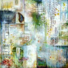 Imagine : mixed media painting by Laly Mille