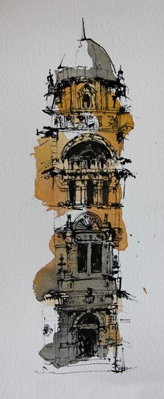 Cities Watercolor New York City - Calculating Infinity Watercolor City, Watercolor Sketch, Watercolor Landscape, Watercolor Illustration, Watercolor Paintings, Watercolor Portraits, Abstract Paintings, Watercolor Flowers, Architecture Drawing Sketchbooks