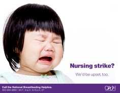 If your baby is on a nursing strike, it is normal for you to feel frustrated and upset, especially if your baby is unhappy. Call our trained breastfeeding peer counselors for help: Nb M, Increase Milk Supply, Breastfeeding Support, Feeling Frustrated, New Moms, Health, Nursing, Women, Women Health