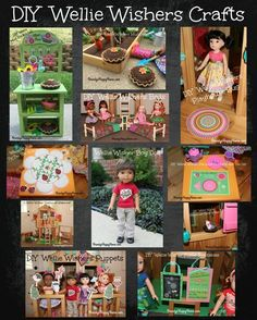 Find out how to make over ten American Girl Wellie Wishers DIY crafts. These crafts are quick and easy! All Wellie Wisher printables are free!