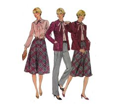 Secretary Blouse Pattern UNCUT with Jacket and by HoneymoonBus
