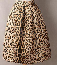 Leopard Print Vintage Skirt