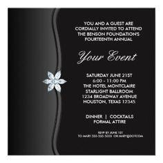 Black Tie Gala Invitations Romance Gala Invitation Corporate