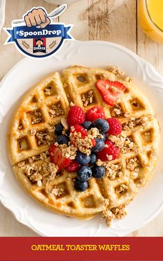 """Good recipes are the key to a happy family. If you are looking for good recipes """" Quaker® Oatmeal Toaster Waffles """", here is the right place. Waffle Recipes, Oatmeal Recipes, Easy Dinners For Kids, Quaker Instant Oatmeal, Frozen Waffles, Popular Recipes, Breakfast Recipes, Breakfast Club, Breakfast Ideas"""
