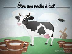 être une vache à lait = Se faire exploiter financièrement par les autres.
