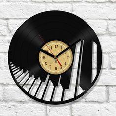 Vinyl Clock - Piano