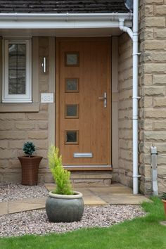 The homeowners chose a composite door in Irish Oak with a matching ...