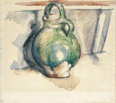 Paul Cézanne - The Green Pot, 1885/87 - Musée du Louvre, Departement des Arts Graphiques. Fonds du Musée d'Orsay