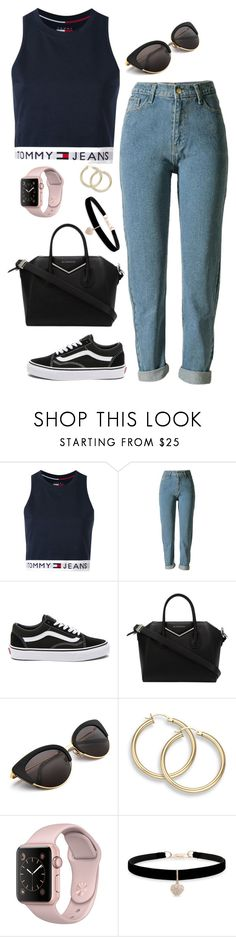 """""""Untitled #439"""" by maria143sara ❤ liked on Polyvore featuring Tommy Hilfiger, Vans, Givenchy and Betsey Johnson"""