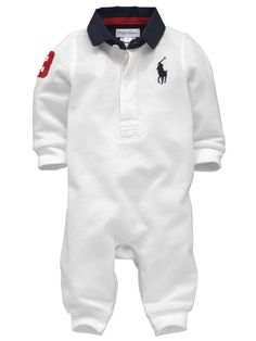 Ralph Lauren Baby Boys Rugby Coverall Very.co.uk