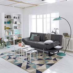 Very soft and comfortable, the Elga rug adds a striking touch to your home. Description of Elga rug:Graphic motif.Features of Elga rug:100% polypropylene.Quality:Offers excellent colour-fastness.Discover the full rug collection available online at laredoute.co.uk.Size of Elga rug:120 x 170 cm160 x 230 cm