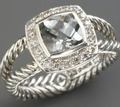 DAVID YURMAN RING - well, that's a pretty lil sparkle. Diamonds around the edge.