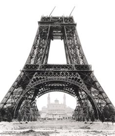 unfinished eiffel tower, 1888