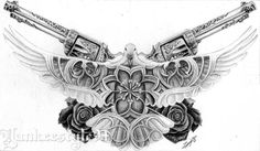 White Dove tattoo with Guns & Roses and cathedral-window details. This is a tattoo drawing for a costumer. White Dove Tattoo with Guns n Roses Hase Tattoos, Skull Tattoos, Animal Tattoos, Body Art Tattoos, Sleeve Tattoos, Gun Tattoos, Ship Tattoos, Ankle Tattoos, Arrow Tattoos