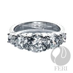 - 925 fine sterling silver - 0.5 micron natural rhodium plating - Set with AAA white cubic zirconia - Dimension:  Invest with confidence in FERI Designer Lines https://www.globalwealthtrade.com/vdm/display_item.php?referral=jgala&category=12&item=2411&cntylng=&page=4