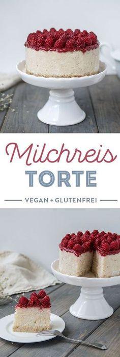 Rezept für vegan und glutenfreie Milchreis Torte mit Kokos ____ Mehr Rezepte die #vegan & #glutenfrei sind findest du unter meinem #Foodblog http://www.foodreich.com/