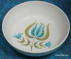 Vintage Franciscan Earthenware Tulip Time Vegetable Soup Bowl. $10.00, via Etsy.