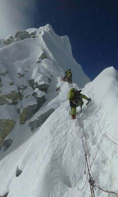 Climbing up to the peak of Mt. Everest!