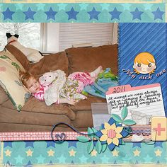 Created with Feeling Poorly kit by Dana's Footprint Designs, Template 707 by Designs by Andrea Gold