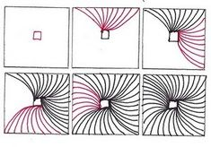 Zentangle pattern Coil ..... Love this. I used to draw something similar around the lines on spiral paper in school lol