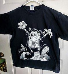 fa10be1f XL 1990's World Pog Federation T-Shirt Size XL Black Rare Vintage #Belton #