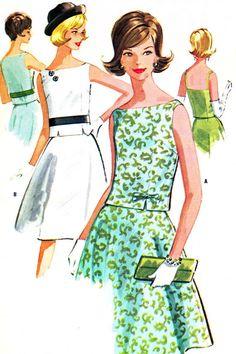 1960s Dress Pattern McCalls 6273 Two Piece Dress by paneenjerez, $18.00