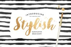Stylish Brush with Bonus by Nicky Laatz on Creative Market