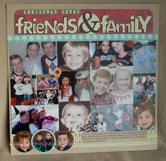 What to do with photo Christmas cards you receive ... cut the photos out and scrapbook them!