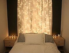 String lights Window Curtain,300 LED Icicle Fairy Twinkle Starry Lights-UL Listed for Indoor & Outdoor, Wedding, Christmas, Home Bedroom Wall Decoration, Party (9.8ftx9.8ft, Warm white): Amazon.ca: Patio, Lawn & Garden