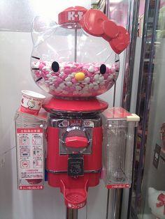 Hello Kitty Gumball Machine- I WANT THIS!!