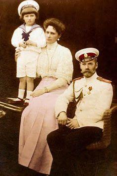 Alexei Nikolaevich (Russian: Алексе́й Никола́евич) (12 August 1904 — 17 July 1918) with his parents