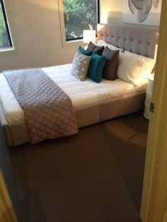 A luxury carpet completes the warm feel of your bedroom