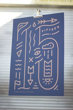 Fifteen /  Illustrated Screen Printed Poster by BuzzStudios