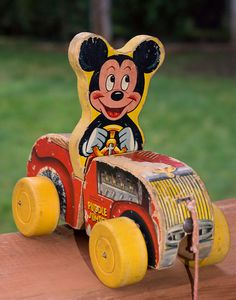 This is a very aged and well played with Fisher Price Mickey Mouse Puddle Jumper pull toy. The pull toy is from I went through a phase of collecting antique toys. Our Daily Challenge topic Mar Aged Walt Disney, Disney Toys, Disney Fun, Disney Magic, Punk Disney, Disney Facts, Disney Movies, Disney Characters, Mickey Mouse Toys