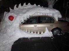 Snow dragon - funny