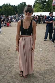 Black top and salmon bottom Perfect dress for summer festivals...(click on picture to see more)