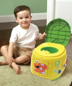 Ready to potty train?  Check out this Elmo potty available at Zulily.
