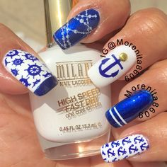 My Nautical Nail Design