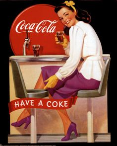 Buttons Pin Up Girl New Coca-Cola Postcard from Belgium with 2 Bonus pins