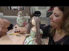 Mulher.com - 04/01/2017 - Boneca costureira - Vivi Prado PT2 - YouTube Primitive Doll Patterns, Doll Videos, Bear Doll, Sewing Dolls, Doll Tutorial, Doll Hair, Fairy Dolls, Barbie Dress, Soft Dolls