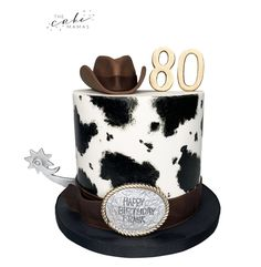Call or email to order your celebration cake today. Click the link below for more information. Western Cakes, 80 Birthday Cake, Cakes Today, Cupcake Wars, Desserts To Make, Cow Print, Celebration Cakes, Custom Cakes, 50th Anniversary