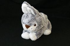 """Best Made Toys Gray Blue Easter Bunny Rabbit Laying Plush Stuffed 2014 Toy 11""""  #BestMadeToys"""