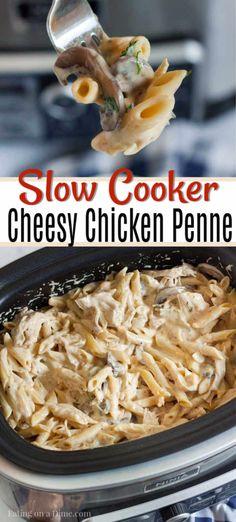Crock Pot Cheesy Chicken Penne