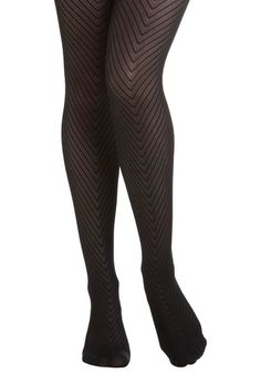 Donning Chevron Tights, #ModCloth    this website has some real cute clothes!