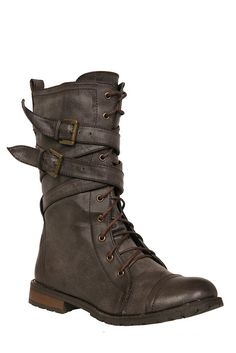 Brown X Lace-Up Boots | Hot Topic | $47